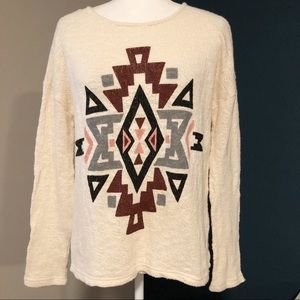 Forever 21 soft cream knit top